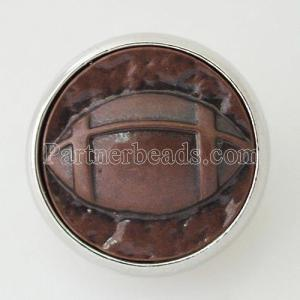 20MM Snap de football argenté KB5650 marron
