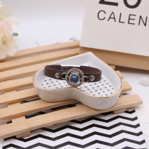 12MM design snap antique ruban recouvert de strass bleu KS6361-S snap bijoux