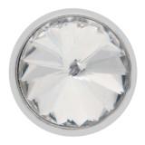 Diseño 20MM de plata chapada con diamantes de imitación blancos KC6962 broches de joyería