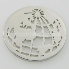 33MM stainless steel coin charms fit  jewelry size earth
