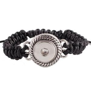 1 button Handmade black line KC0621 new type bracelets fit 20mm snaps chunks