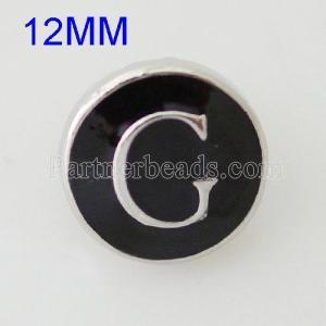 Broches 12mm G Plateados de plata antigua con esmalte KB6667-S joyería rápida