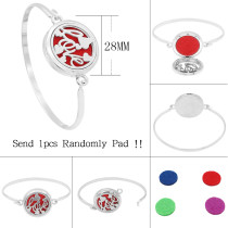 28MM alloy love Aromatherapy/Essential Oil Diffuser Perfume Bracelet with 1pc 20mm discs as gift