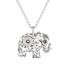 Elephant pendant sliver Necklace with 50CM chain KC1058 snaps jewelry