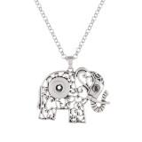 Collar de astilla colgante de elefante con cadena 50CM KC1058 broches de joyería
