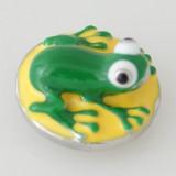 20MM 3D-лягушка, посеребренная с эмалью KB5186, оснастка для ювелирных украшений