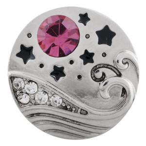 20MM broche de mar chapado en plata con diamantes de imitación rosa KC5568 broches de joyería