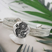 20MM design snap Silver Plated KC9894 snaps jewelry