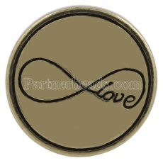 20MM valentine love snap Antique gold plated KC8633 interchangable snaps jewelry
