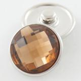 18MM complemento de aleación de cristal marrón facetado KB2701-AI broches intercambiables