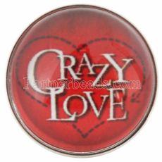 San Valentín 20MM toma un vaso de amor rojo Joyas de broches intercambiables C0660
