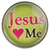 20MM snaps glass of Jesus love me C0551 interchangable snaps jewelry