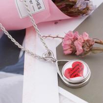 20MM snap verre rouge Love C0022 Snaps interchangeables bijoux