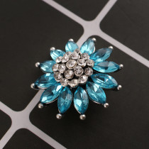 20MM design snap silver Plated with blue Rhinestones KC8970 snaps jewelry