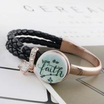 20MM faith C5249, métal émaillé peint, s'enclenche les bijoux
