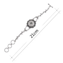 ブランチメタルブレスレット21CMフィット18&20MMスナップチャンク1ボタンスナップジュエリー