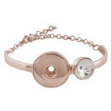Les bracelets en métal orné de boutons en métal Rose 1 conviennent à 18 & 12mm KC0771