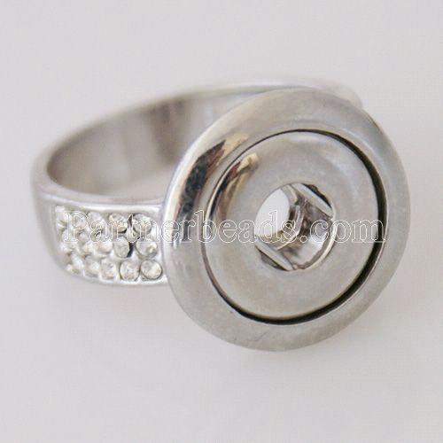 #7 ajusta el anillo de metal en forma de mini 12mm tamaño de los trozos a presión 17.5mm
