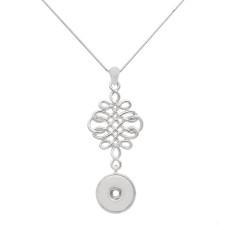 Love knot Pendant Necklace with 48CM chain KC1069 fit 20MM chunks snaps jewelry