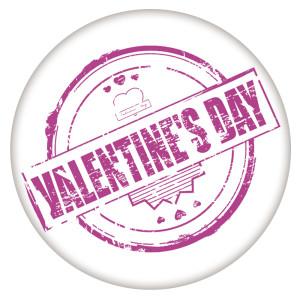 20MM Valentine's day Painted enamel metal C5623 print purple