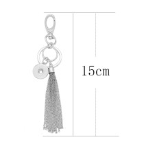 Alloy fashion Keychain with button fit snaps chunks KC1215 Snaps Jewelry