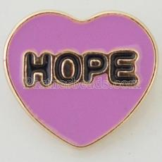 20MM Hope snap Antique Silver Plated with purple Enamel KB8064 snaps jewelry