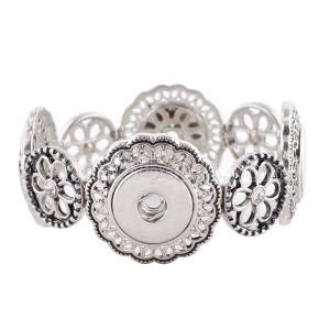 4 buttons snaps metal Bracelets KC0944 fit snaps chunks