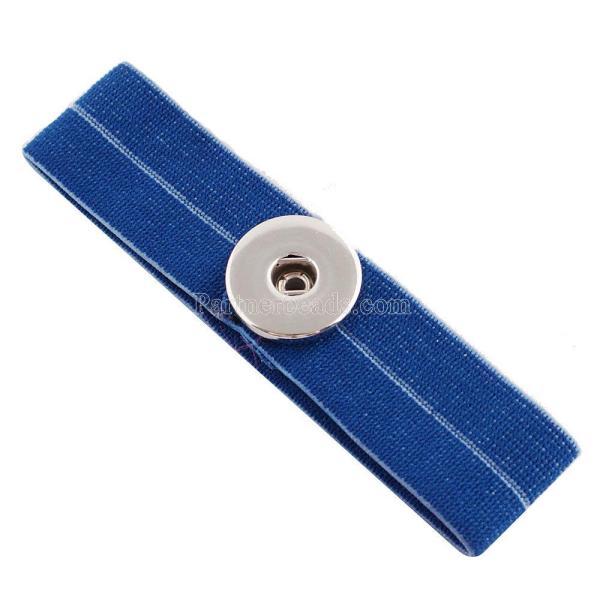 Pferdeschwanz Haarband mit einem Knopf KC0625 Fit 18 / 20mm Snaps Schmuck
