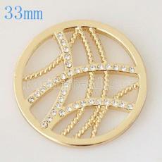 Moneda de aleación 33 mm en forma de medallón tipo joyería 018