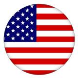 20MM National flag Painted enamel metal C5143 print snaps jewelry