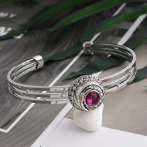 12MM design snap sliver plated with Rose  Rhinestone and Enamel KS6271-S interchangeable snaps jewelry