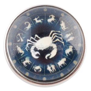 20MM snap 12constellations glass C0143 interchangable snaps jewelry