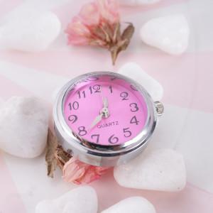 ajusta trozos de reloj rosa-rojo