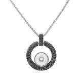 Retro smear Pendant Necklace with 60CM chain KC1071 fit 20MM chunks snaps jewelry