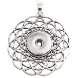 Pendant of necklace without chain  fit snaps style fit 18&20mm chunks jewelry