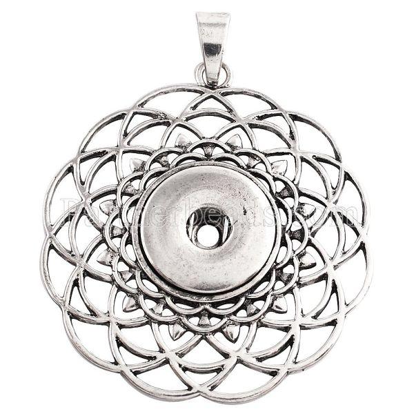 Colgante de collar sin encajes a presión de estilo encaja 18 y 20mm trozos de joyería