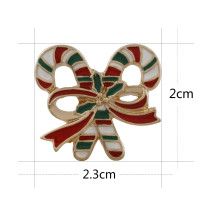 20MM Christmas gold Plated with enamel KC6549 snaps jewelry