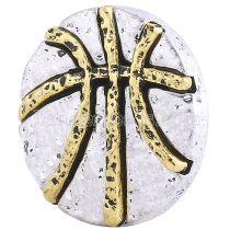 20MM Snap de basket-ball KC6157 en plaqué argent et or