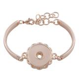 Les boutons 1 s'enclenchent. Le bracelet en or rose correspond aux boutons 18 et 20MM.