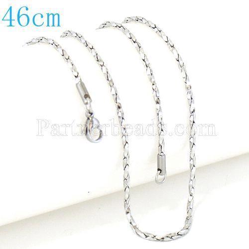 La cadena de caja clásica de moda de acero inoxidable 46CM se adapta a todas las joyas