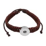 1 Knöpfe braun Kunstleder KC0873 neuartige Armbänder passen zu 20mm Druckknöpfen