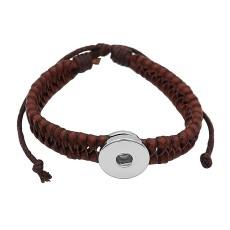 Пуговицы 1 коричневого цвета Искусственная кожа KC0873 браслеты нового типа подходят к кускам 20mm с защелками