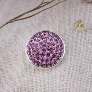18mm Sugar snaps Alloy with purple rhinestones KB2322 snaps jewelry