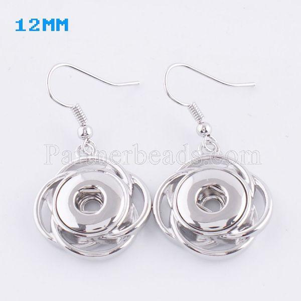 Boucle d'oreille en métal KS0969-S fit 12mm Chunks Snaps bijoux