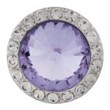20MM Broche redondo plateado con diamantes de imitación púrpura KC9838 broches de joyería