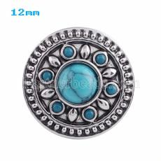 12MM snap design KS5001-S with green Turquoise interchangable snaps jewelry