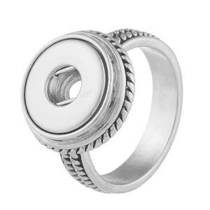 #8 ajusta el anillo de metal en forma de mini 12mm tamaño de los trozos a presión 18.5mm