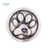 12MM Bear Claw snap Antique Silver Plated  KS8017-S snaps jewelry