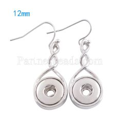 Snaps metal earring KS0976-S fit 12mm chunks snaps jewelry