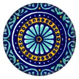 Дизайн 20MM Окрашенная эмаль, металл C5514 принт синий
